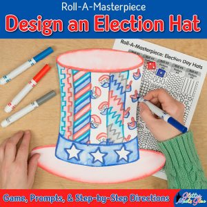 election day hat game to create an uncle sam style hat