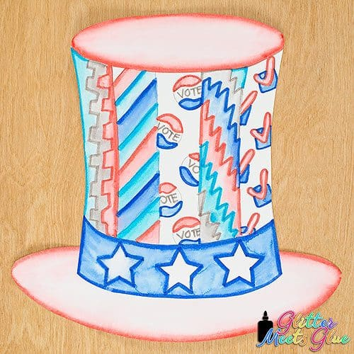 election day hat art lesson for kids