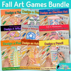 fall activities art lessons bundle for art teachers and classroom teachers