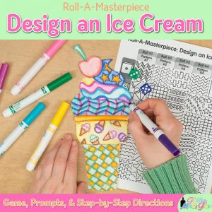 a fun ice cream cone game designed with patterns