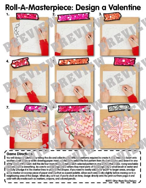 step by step directions for how to draw a valentine heart craft