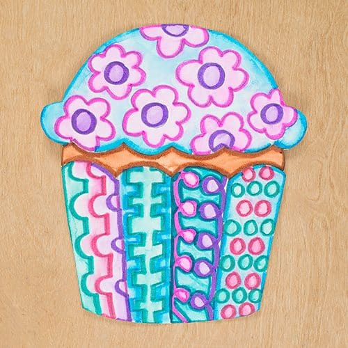 cute cupcake art and craft project