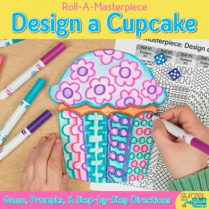 design a happy birthday cupcake using a fun marketing painting technique