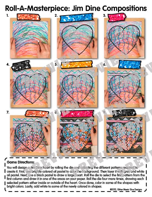 jim dine hearts art game