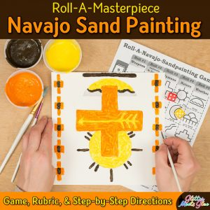 an art lesson to design a navajo sand painting using tempera paints