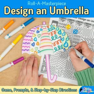 spring umbrella activity for kids