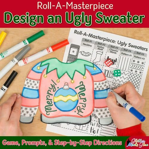 ugly christmas sweater art project for elementary kids