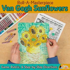 van gogh sunflower art project for kids