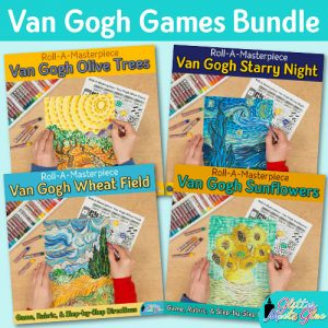 bundle of four vincent van gogh art games for kids