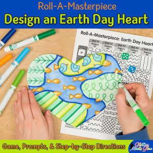 design an earth day heart art project for kids