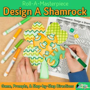 design a saint patricks day shamrock art project using a fun marker painting technique
