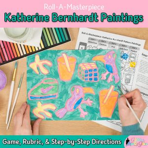 pop art project for kids inspired by katherine bernhardt