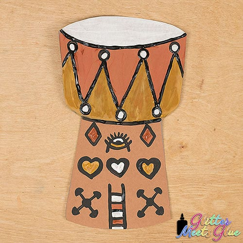 african drum art project for elementary art students