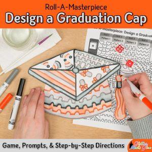 design a graduation cap drawing using a fun marker painting technique