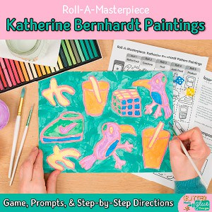 make a cool pop art drawing inspired by katherine bernhardt