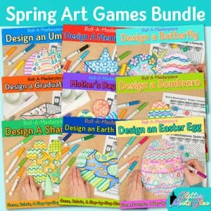 spring activities game bundle for art teachers and classroom teachers