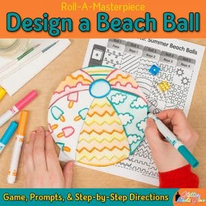 design a beach ball art project using a fun art game