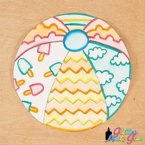 beach ball drawing activity for kids