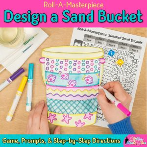 design a sand bucket art project using a fun art game