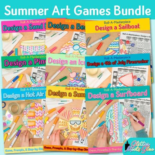 summer art games bundle for teachers
