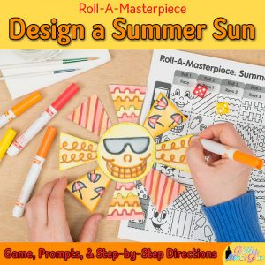 create a sun drawing using a fun marker painting technique