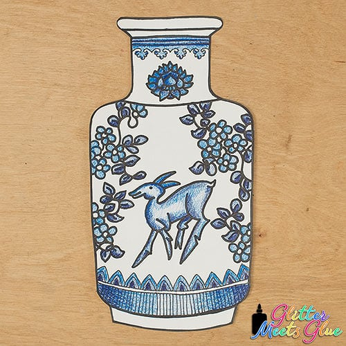 chinese vase art project for kids