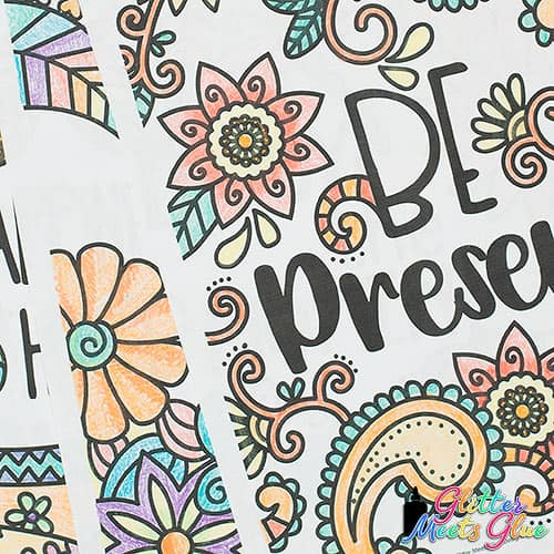 mindfulness coloring pages for kids close up