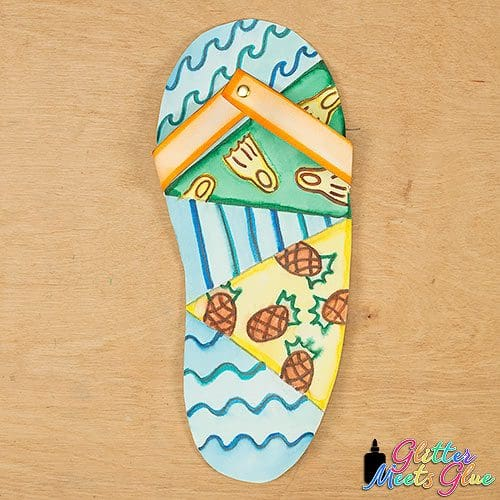 summer flip flop art project for kids