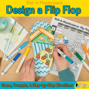 flip flop drawing game for kids