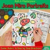 joan miro portrait art lesson for elementary art teachers