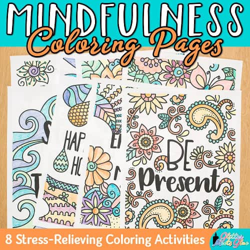 mindfulness coloring pages for students and teachers