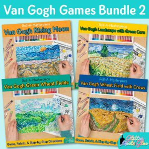 vincent van gogh art game bundle for art teachers