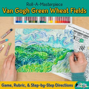 vincent van gogh green wheat fields inspired art game for kids