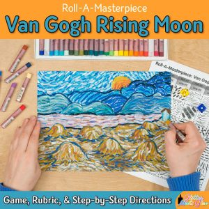 vincent van gogh rising moon art game for middle school art students