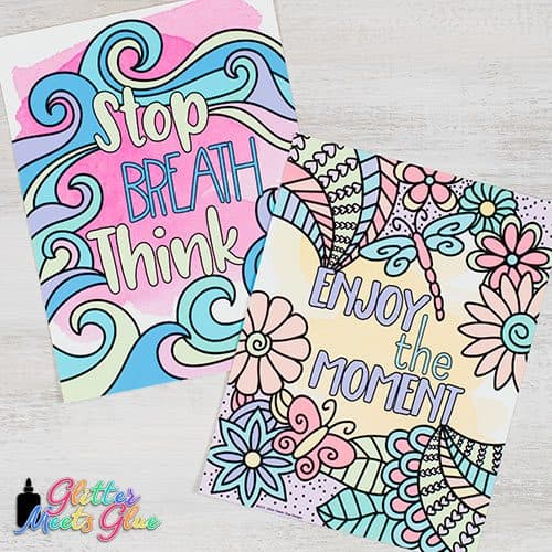 stop breath think and enjoy the moment mindfulness for kids posters