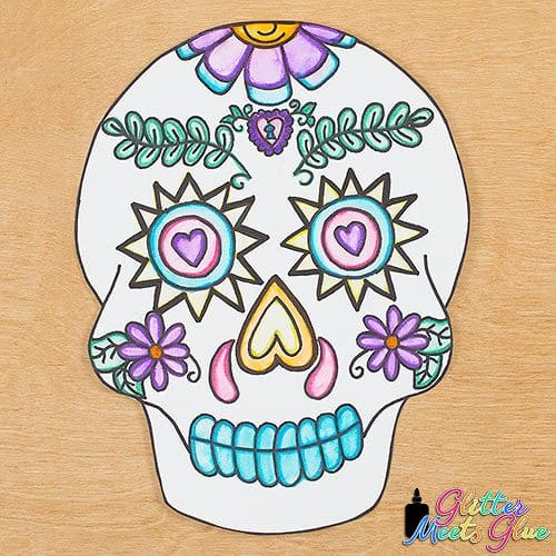 sugar skull art project