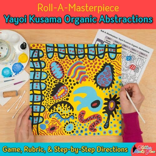 yayoi kusama abstract painting art lesson for middle school modern art lessons