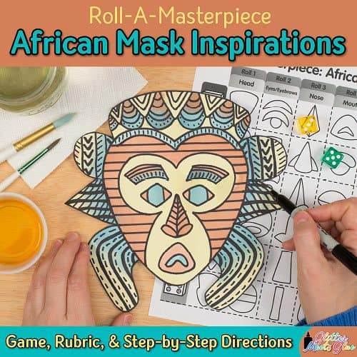 african mask for kids game for elementary art students