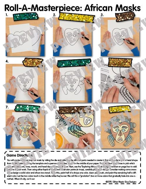 how to draw an african mask step by step