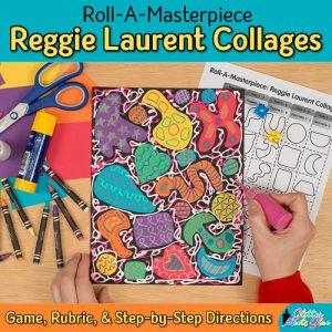 reggie laurent art lesson for 2nd grade kids