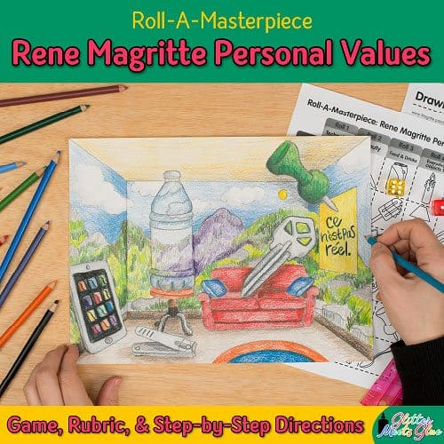 rene magritte personal values art game for middle school modern art