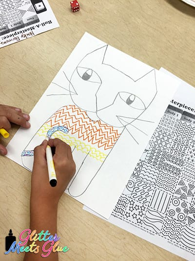 2nd grade student drawing