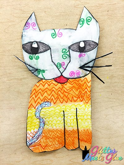 cat painting lesson for kids