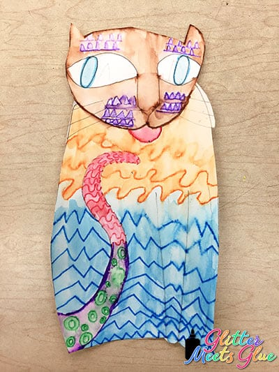 cat with pattern project for kids
