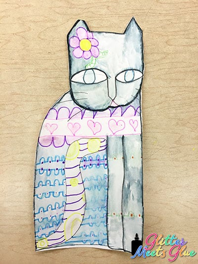 laurel burch cats art project