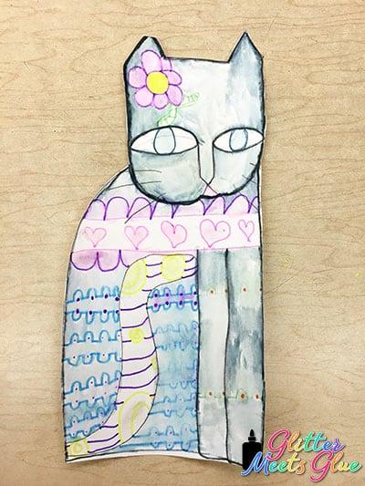 laurel burch cats art project