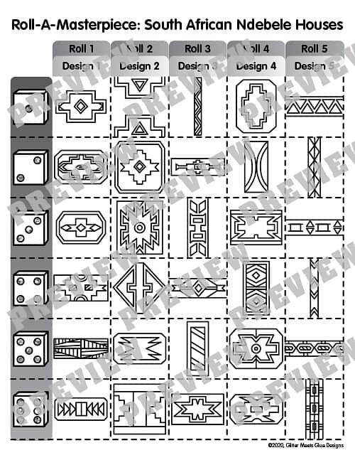 game board to design an Ndebele home