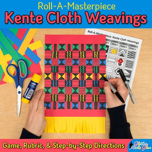 black history month kente cloth weaving game for kids