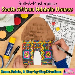 black history month ndebele houses art game for kids