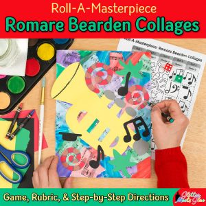 romare bearden collage art game for kids